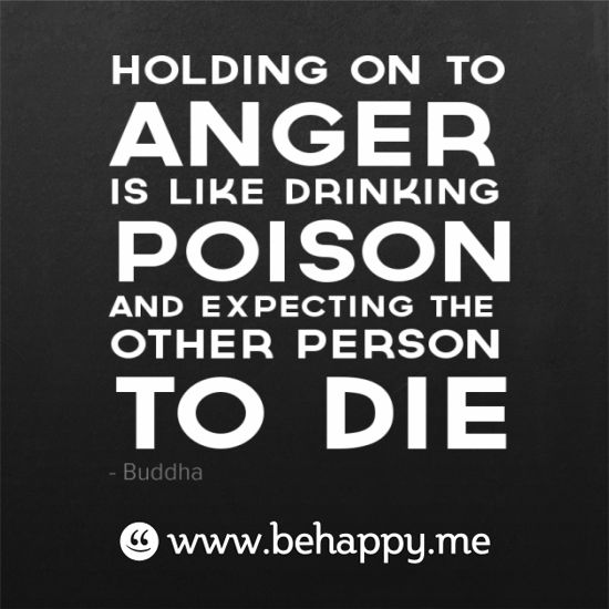 Quotes Regarding Anger: Stop Drinking Poison + Expecting The Other Person To Die