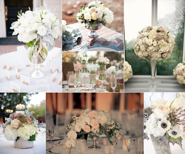 Simple Romantic Wedding Ideas: Romantic Wedding Flowers Ivory Blush Tan Neutrals Wedding