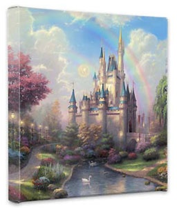 Cinderella - A New Day at the Cinderella Castle - Gallery Wrapped - Thomas Kinkade - World-Wide-Art.com - $79.00 #Disney #Kinkade