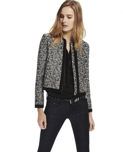 "Short jacket in ""New Camo"" Jacquard - Woman - New Collection - The Kooples"