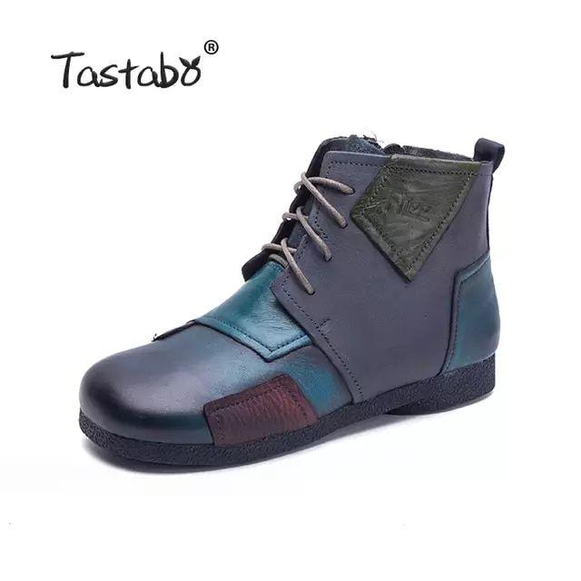Tastabo 2018 botas hechas a mano de moda para mujer zapatos