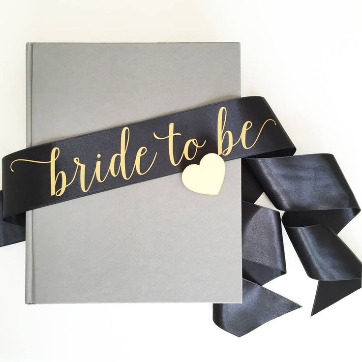 Satin Bride To Be Sash With Heart Pin