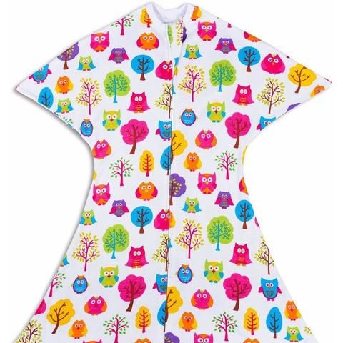 colorful owls pattern zipadee-zip for swaddle transition | a need to ...