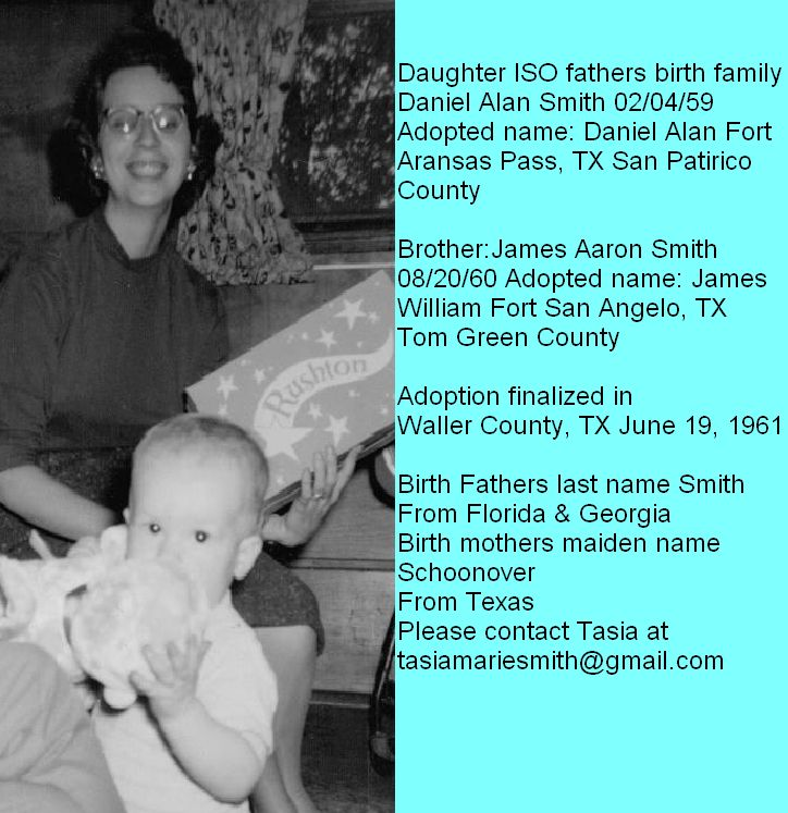 Daughter searching for fathers birth family (Daniel Alan Smith) | Adoptee Photo | A Place For Adoption Reunions & Information