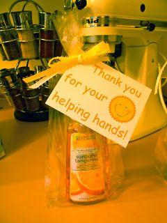 Parent Helper Gifts, volunteer thank you idea