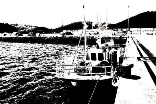Pesqueiro em Cedeira, Galiza, Espanha.