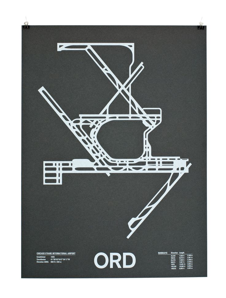 Cool Airport Runway Screenprint by Nomo