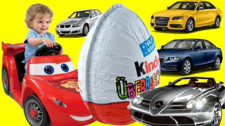 Disney Cars Toys Kinder Surprise Eggs Mini modelle Drive Lightning McQue...
