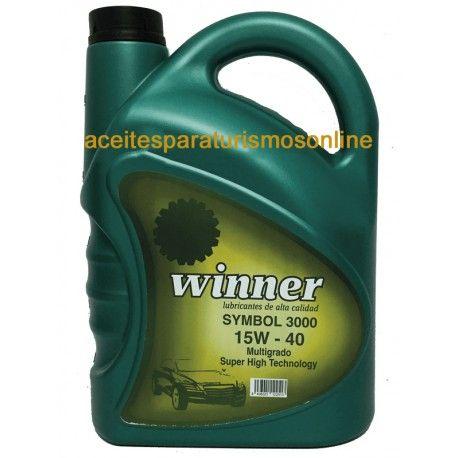 Aceite WINNER SYMBOL 3000 15W40 5L. 13.50€ Precio de compra en aceitesparaturismosonline.com y aceitecochemadrid.com Visita nuestra web de aceites motor y lubricantes. Los mejores del mercado