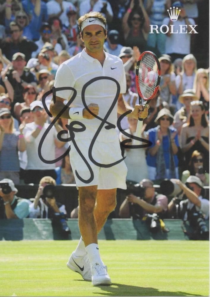 ROGER FEDERER Autographed Hand Signed Authentic TENNIS Photo COA