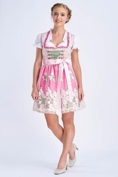 ENGEL DIRNDL Carmen Creme / Rosa Mini Dirndl ED201