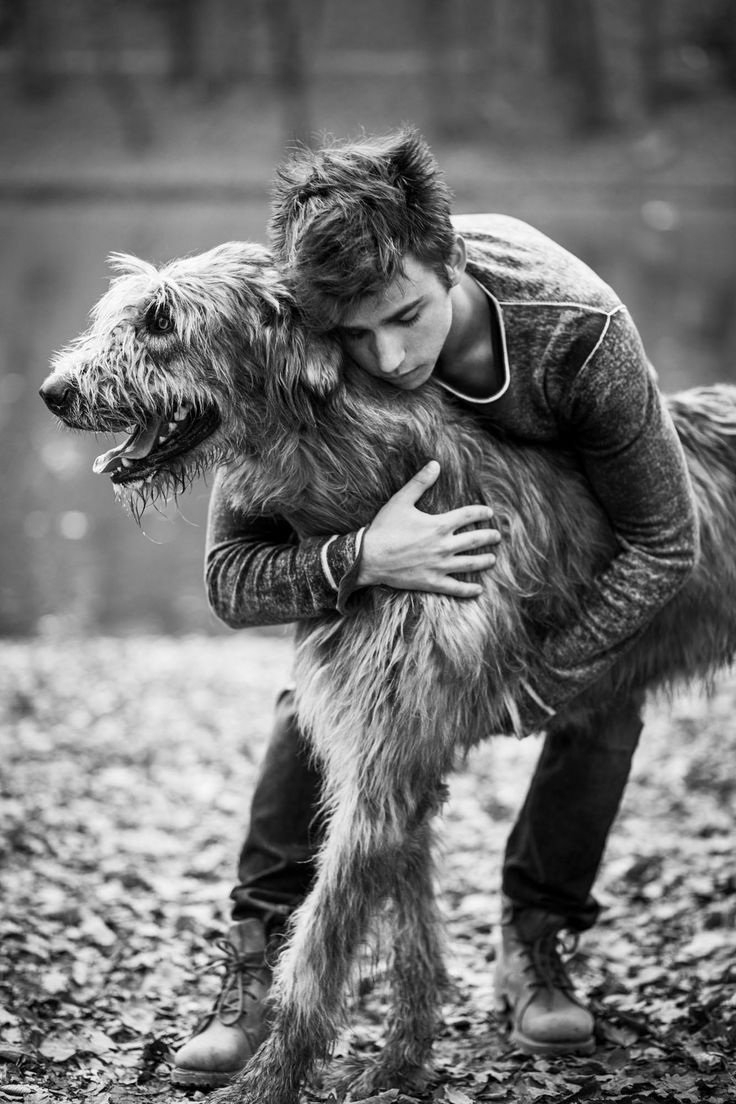 Soulmates by Tomislav Moze A portrait of Teo and Agi, unfortunately Agi this magnificent Irish Wolfhound is not here with us anymore.