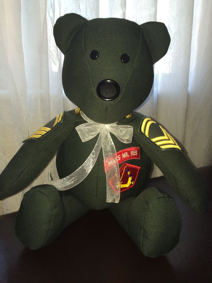 A Memory Bear Made From A Military Uniform Www