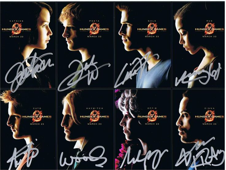 The Hunger Games Authentic Cast Signed 9x11.5 Autograph Photo - Jennifer Lawrence, Josh Hutcherson, Liam Hemsworth, Woody Harrelson, Lenny Kravitz, Elizabeth Banks, Alexander Ludwig, Amandla Stenberg - Certificate of Authenticity Included - Celebrity Hand-Signed Autograph - All orders are shipped within 48 hours. Free domestic shipping. Lifetime guarantee under the terms of our return policy. This signed item would make an excellent and unique gift. The Hunger Games is a 2012 American ...