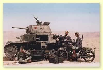 Italian tanks and AFVs. - 47mm Ansaldo 47/32 Gun. This tank was very much used in North Africa. With a AA gun and great muzzle velocity gave it a great fighting chance.