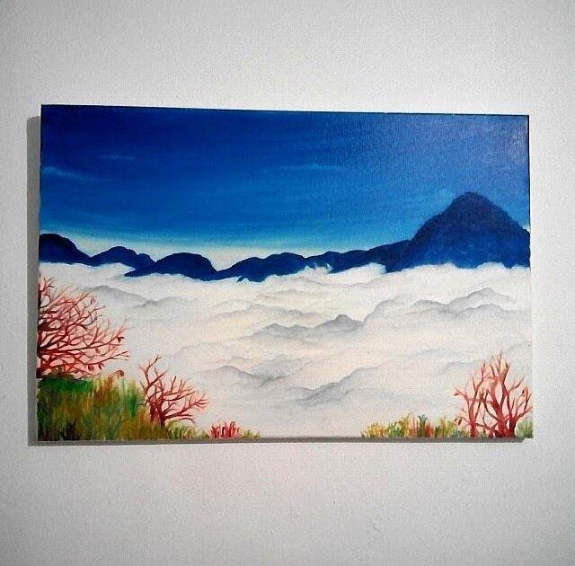 14 Lukisan Pemandangan Image Lukisan Pemandangan Dari Atas Gunung 1483956253 A6 By Download Contoh Seni Lukisan Lanskap Gamba Di 2020 Lukisan Pemandangan Lanskap