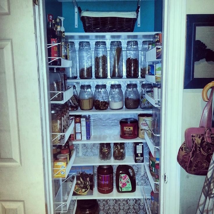 my hall closet turned pantry kitchen design storage