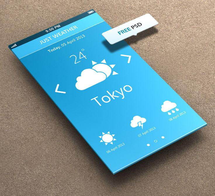 Just Weather for iPhone 5 Retina Ready - FREE PSD by khaledzz9.deviant... on @deviantART
