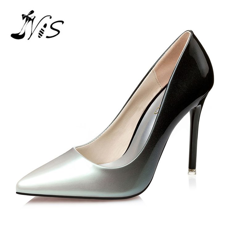 ==> [Free Shipping] Buy Best 2017 Woman 10cm Pumps Party Shoes Sex Women High Heels Shoes Luxury Designer Patent PU Leather Pointed Toe Wedding Shoes Online with LOWEST Price | 32789695989