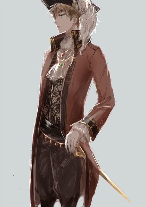 たまには英さんの一枚絵も描こうと思いまして■ブクマコメ. Pirate England