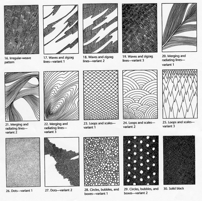 A great resource for texture drawings...zentangles, supermundane, etc.