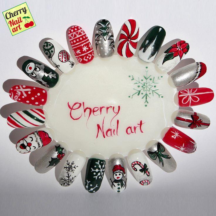 Découvrez vite le kit Christmas by Cherry Nail Art pour réaliser ces magnifiques Nail Art de Noël