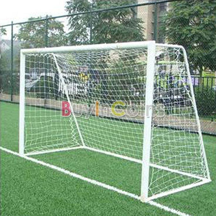 10x6.5ft Full Size Football Soccer Goal Post Net Sports Match Training Junior