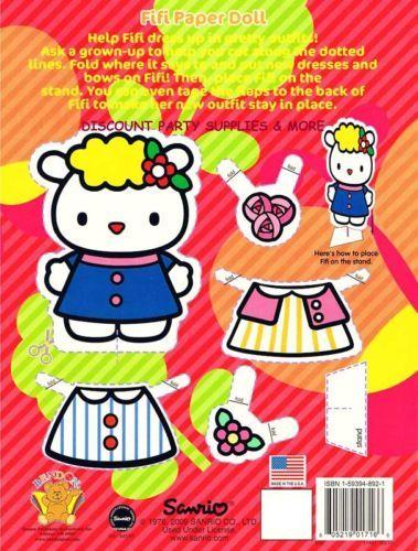 Hello Kitty Orange Coloring Amp Activity Book Paper Dolls