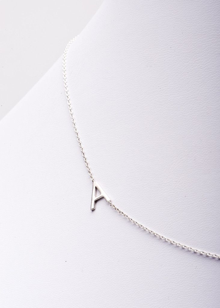 Sideways Initial Necklace - ordered mine from seeing the Today Show Steals & Deals segment…got it in a J & S :)