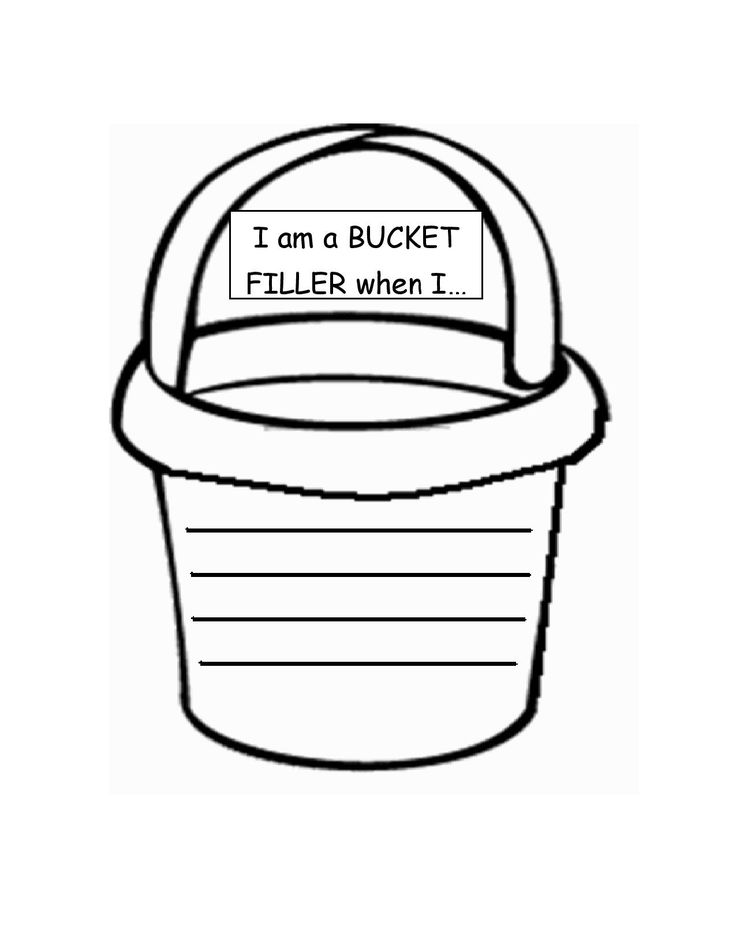 76 best bucket filler activities images on pinterest for Bucket filler coloring page