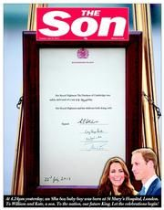 The Sun (UK) Newspaper Front Page for 23 July 2013