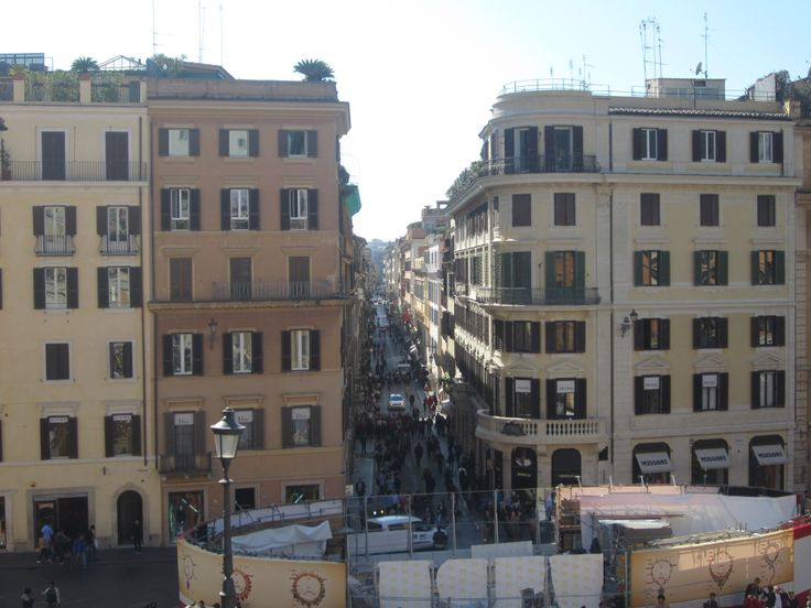 the view from the #top of the #spanish #steps