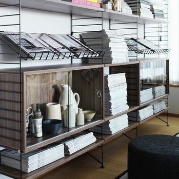 STRING glass display cabinet / String shelving / string ® / FunktionAlley
