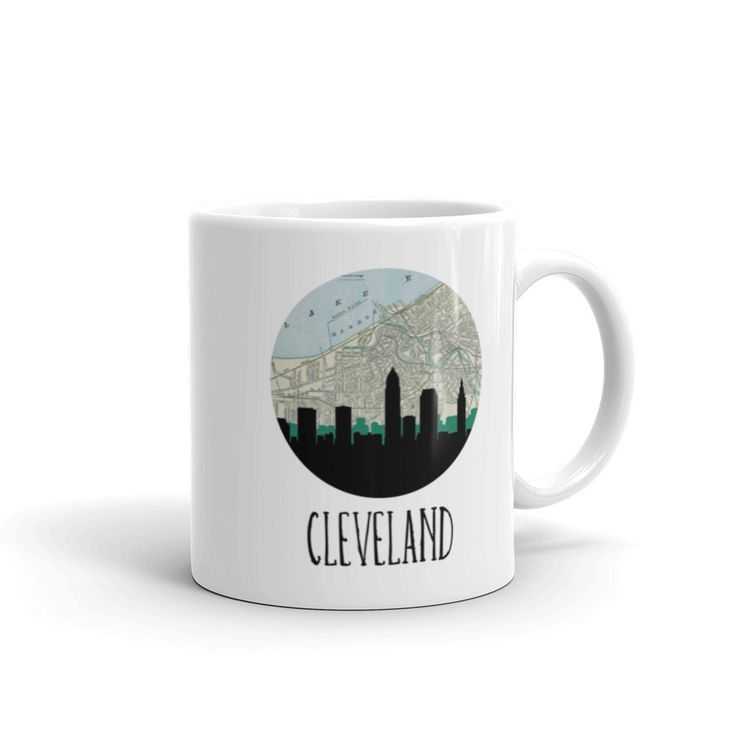 Cleveland City Skyline Mug