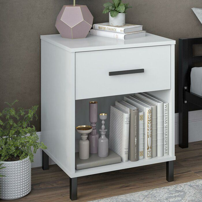Julian 1 Drawer Nightstand Nightstand Decor Bedroom Night