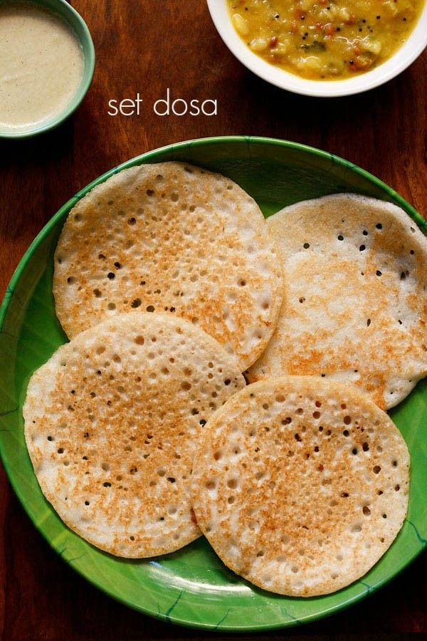 set dosa recipe with step by step photos - very soft, light and spongy dosa. these soft dosas are called as set dosa as they are served in a set of 3 dosa per serving. set