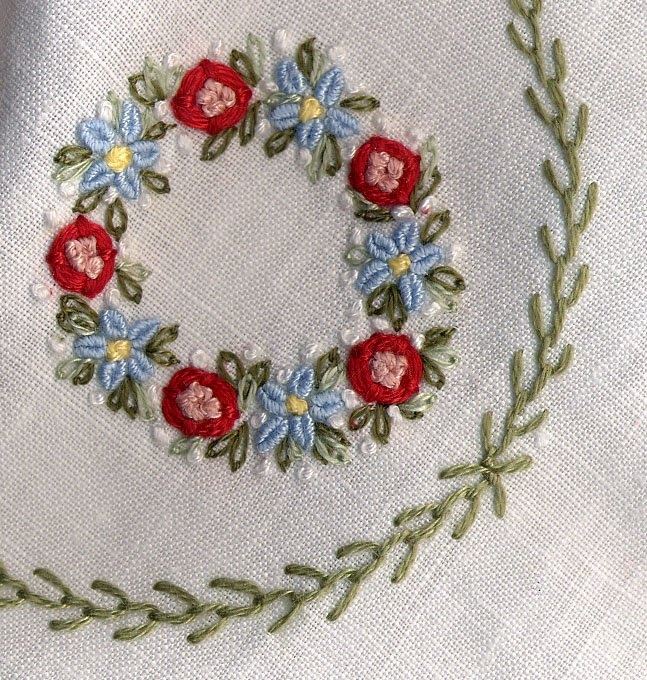 Bullion Stitch Embroidery Patterns