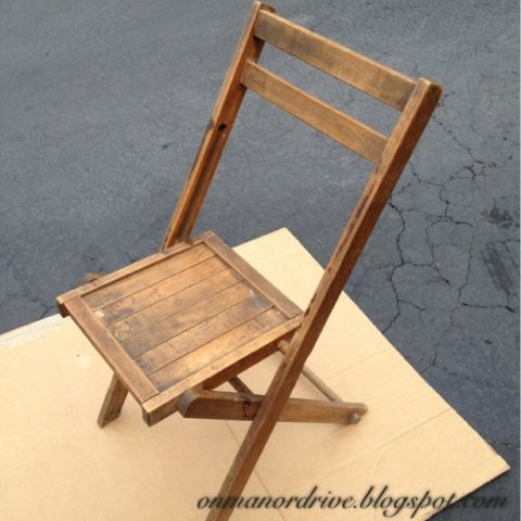 On Manor Drive: Wooden Folding Chair Makeover