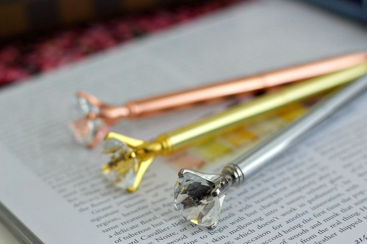 Diamond Pens-Gold, Rose Gold, Silver by ChampagneAndConfetti on Etsy