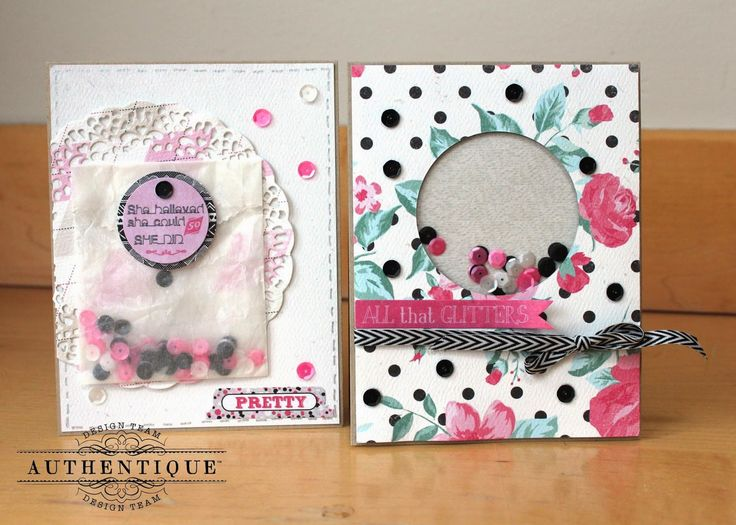 """Authentique Paper: Authentique Paper & Pretty Pink Posh- Perfectly """"Pretty"""" Shaker Cards"""