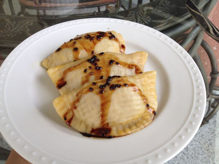 Vegan pot stickers with sweet soy sauce
