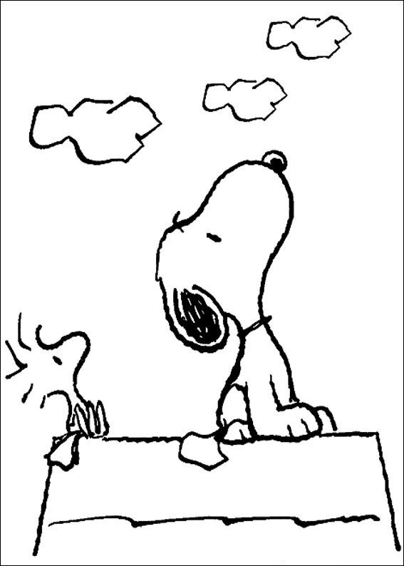 Snoopy Coloring Pages Images