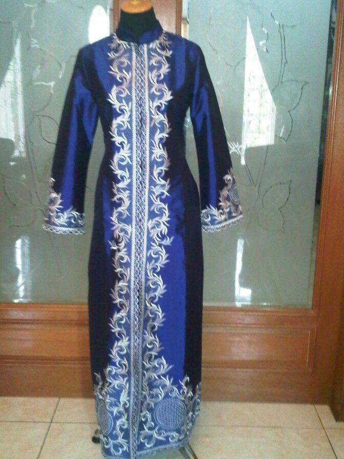 Abaya taffeta royal blue