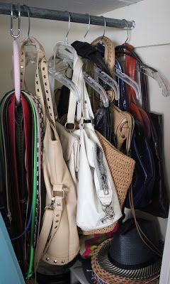 Curated Closet: purse organization
