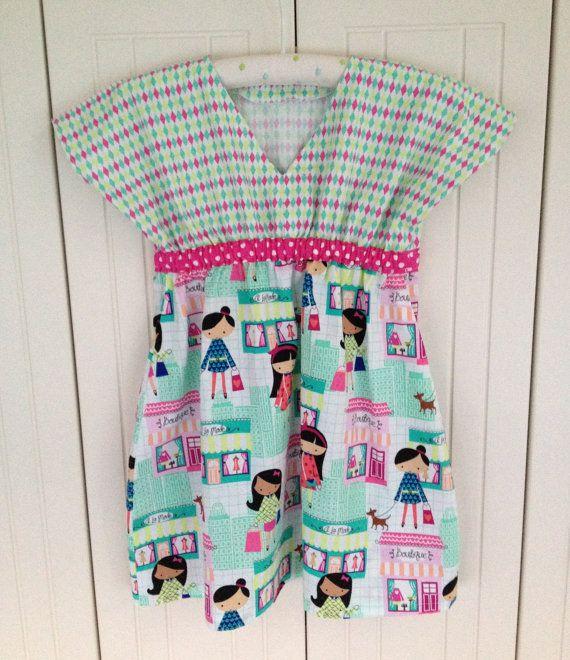 LA Boutique VNeck Dress  size 5/6 by LahDiDoo on Etsy, $45.00