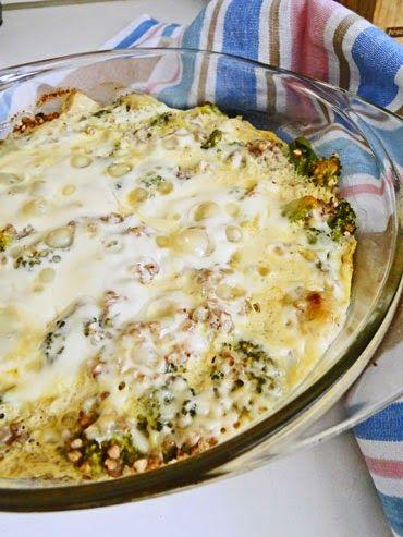 kudy-kam: Zapečená pohanka s brokolicí a kuřecím masem