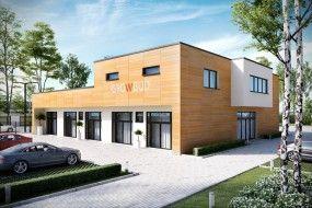 Projekt budynku usługowo-magazynowo-mieszkalnego AK2H - STUDIO ARCHITEKTONICZNE ARTUR RZEPUS mgr inż. arch. A.Rzepus Czechowice-Dziedzice