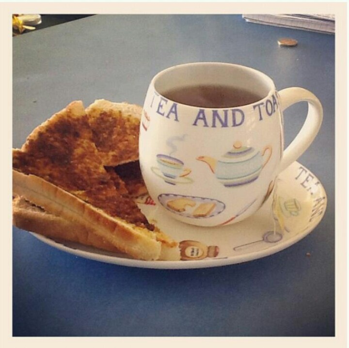 Remembering every day with  my Mom......Tea and Toast!