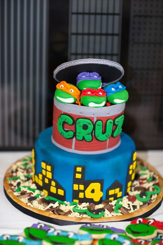 Ninja Turtles themed birthday party via Karas Party Ideas KarasPartyI ...