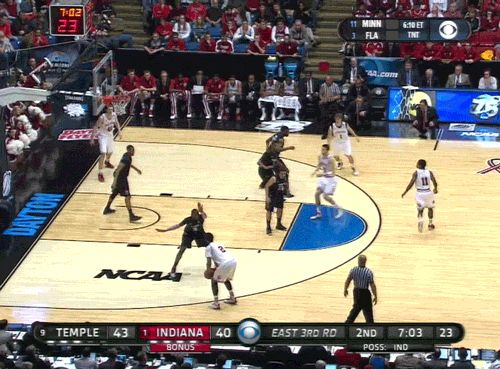 GIF: Basketballs are not supposed to do that. #iubb
